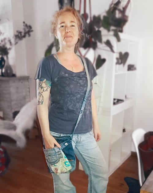 Schoudertas Florine - ReConstructed Jeans