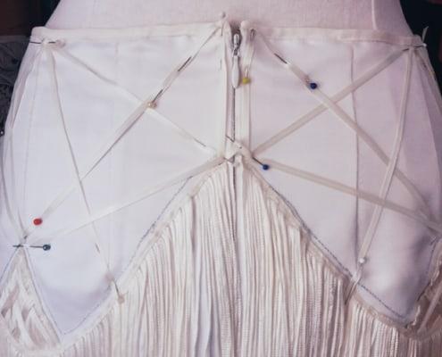 Van trouwjurk naar twenties party dress - Detail 1