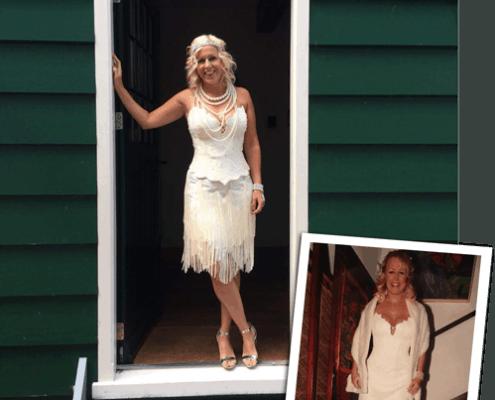 Van trouwjurk naar twenties party dress
