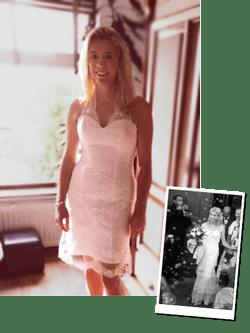 Van trouwjurk naar feestjurk