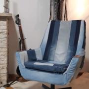 Restylen stoel in Hergebruikte jeans