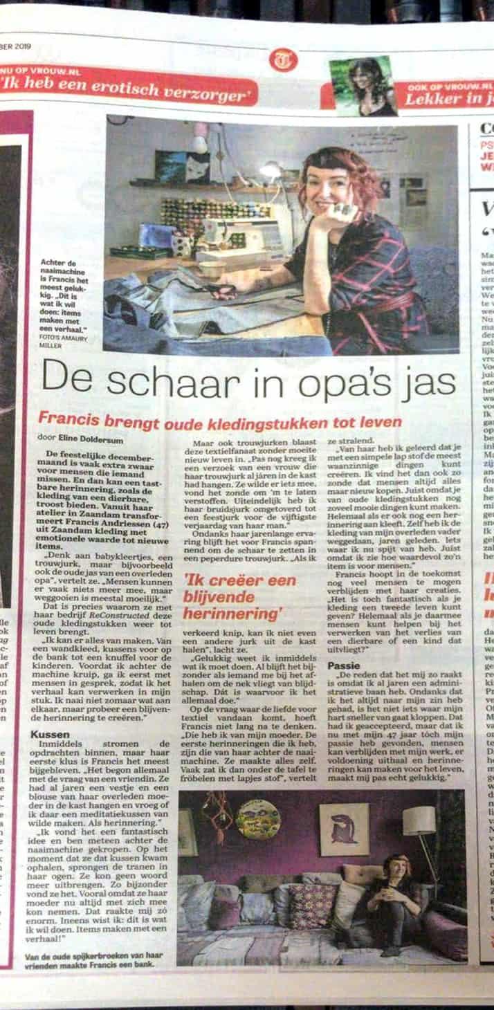 Interview ReConstructed Telegraaf - VROUW